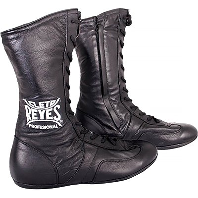 Cleto Reyes Leather Lace Up High Top Boxing Shoes