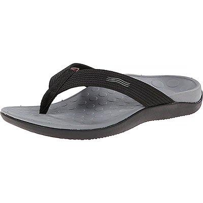 Vionic Unisex Wave Toe Post Sandal Black