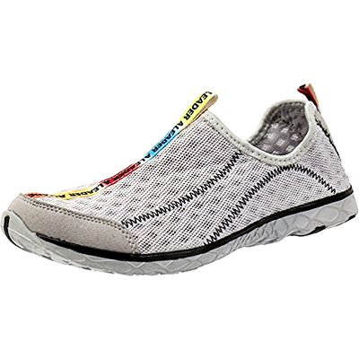 ALEADER Men's Mesh Slip-On Water Shoes