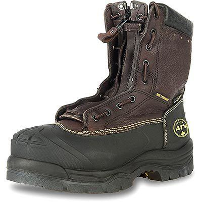 Oliver 65 Series 8'' Leather Chemical Resistant Steel Toe Lace In Zipper Men's Metatarsal Boots