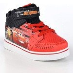 2_Disney Pixar Toddler Boys Cars Lightning McQueen Red Black Light-Up High-Top Sneaker