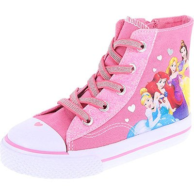 Disney Princess Girls' Toddler Princess High-Top Sneaker